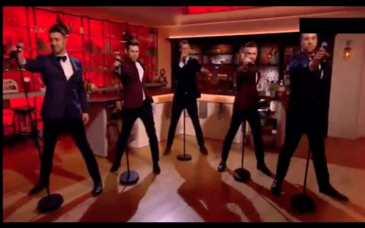 The Overtones on the Mel&Sue show