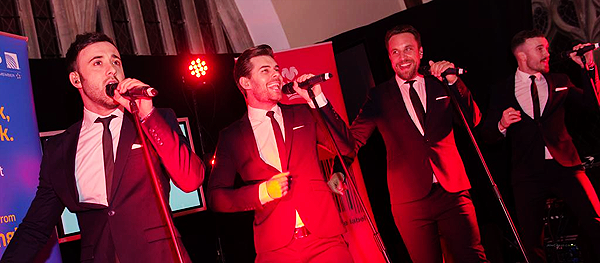 The Overtones at the Red Dinner for Prince's Trust (photo courtesy of Prince's Trust)