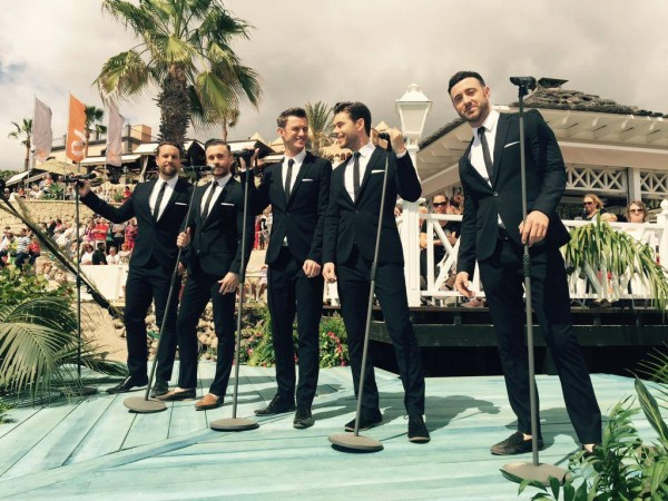 The Overtones at ZDF Fernsehgarten on Tour on Tenerife