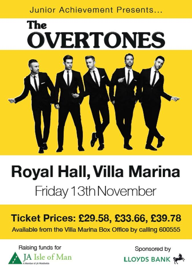 The Overtones back on the Isle of Man for Junior Achievement