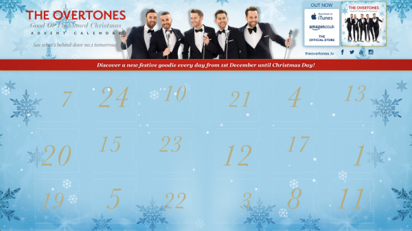The Overtones Advent Calendar